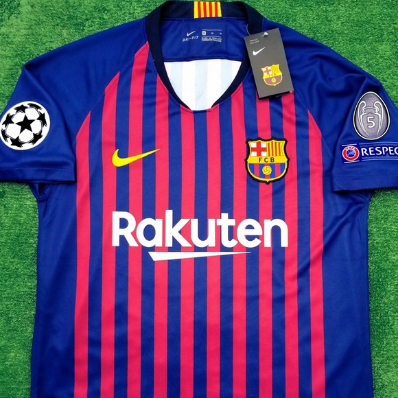 9795db75778 2018 19 FC Barcelona soccer jersey Messi